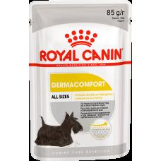 Royal Canin Dermacomfort влажный корм для собак с чувствительной кожей, склонной к раздражениям и зуду (паштет)