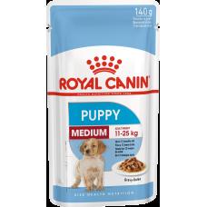 Купить Royal Canin Medium Puppy влажный корм для щенков с 2 до 12 месяцев (в соусе)