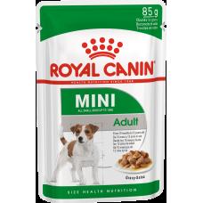 Купить Royal Canin Mini Adult влажный корм для собак с 10 месяцев до 12 лет (в соусе)