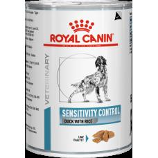 Royal Canin Sensitivity Control влажная диета для собак при пищевой аллергии или непереносимости (утка с рисом,банка)