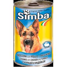 Simba Bocconi con Pollo e Tacchino (банка) консервы для собак с кусочками курицы и индейки