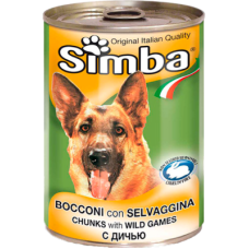 Simba Bocconi con Selvaggina (банка) консервы для собак с кусочками дичи