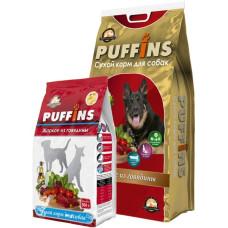 Puffins сухой корм с говядиной для собак всех пород