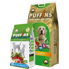 Puffins сухой корм мясное ассорти для собак всех пород