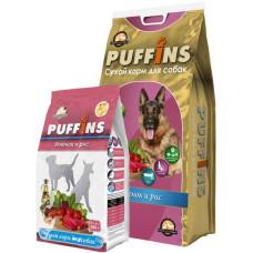 Puffins сухой корм с ягненком и рисом для собак всех пород