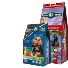 Купить Верные Друзья Мясное Ассорти сбалансированный сухой корм мясное ассорти для взрослых собак крупных пород