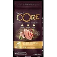 Wellness Core Senior Original All Breeds Turkey with Chicken беззерновой корм из индейки с курицей для пожилых собак всех пород