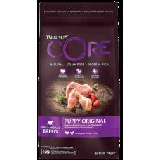 Wellness Core Puppy Original Small Medium Turkey with Chicken беззерновой корм из индейки с курицей для щенков мелких и средних пород