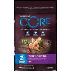 Wellness Core Puppy Original Large Breed Chicken беззерновой корм из курицы для щенков крупных пород