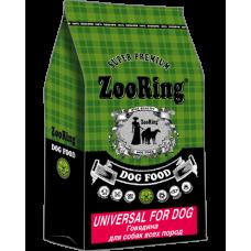 ZooRing Universal For Dog сухой корм с говядиной для взрослых собак всех пород