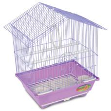 Купить 2101 Клетка для птиц эмаль, золото, цинк 300*230*390мм