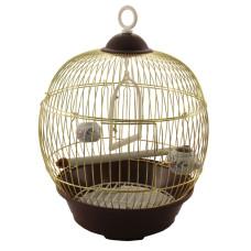 23BG Клетка для птиц круглая, золото, d230*365мм