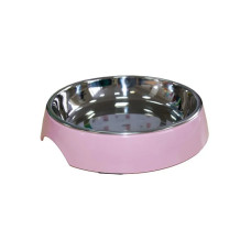 SuperDesign миска на меламиновой подставке для кошек широкая 250 мл, розовая пудра
