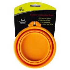Купить SuperDesign миска силиконовая складная малая 380 мл оранжевая