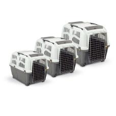 MPS переноска для кошек и собак мелких пород SKUDO 1 48х31,5х31h см с металлической дверцей с замком