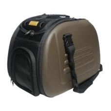 Ibbiyaya складная сумка-переноска для собак и кошек до 6 кг бежевая,коричневая